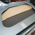 Door liner panels being fitted
