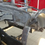 Repairing rusty area of inner wing