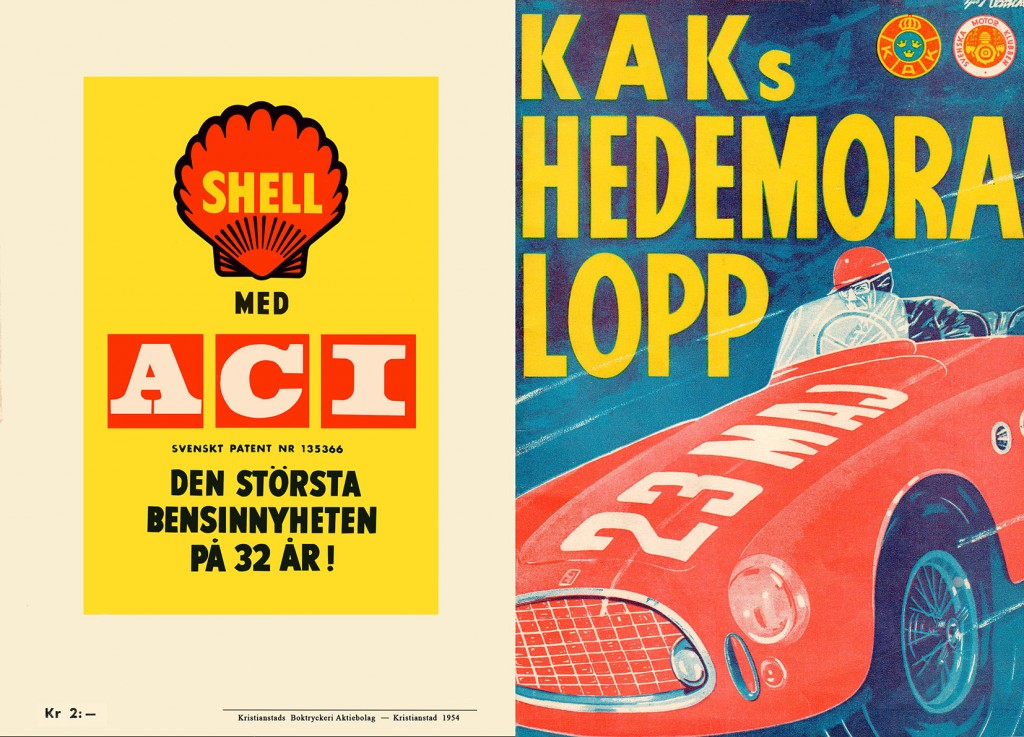 Hedemora 1954, Race Program